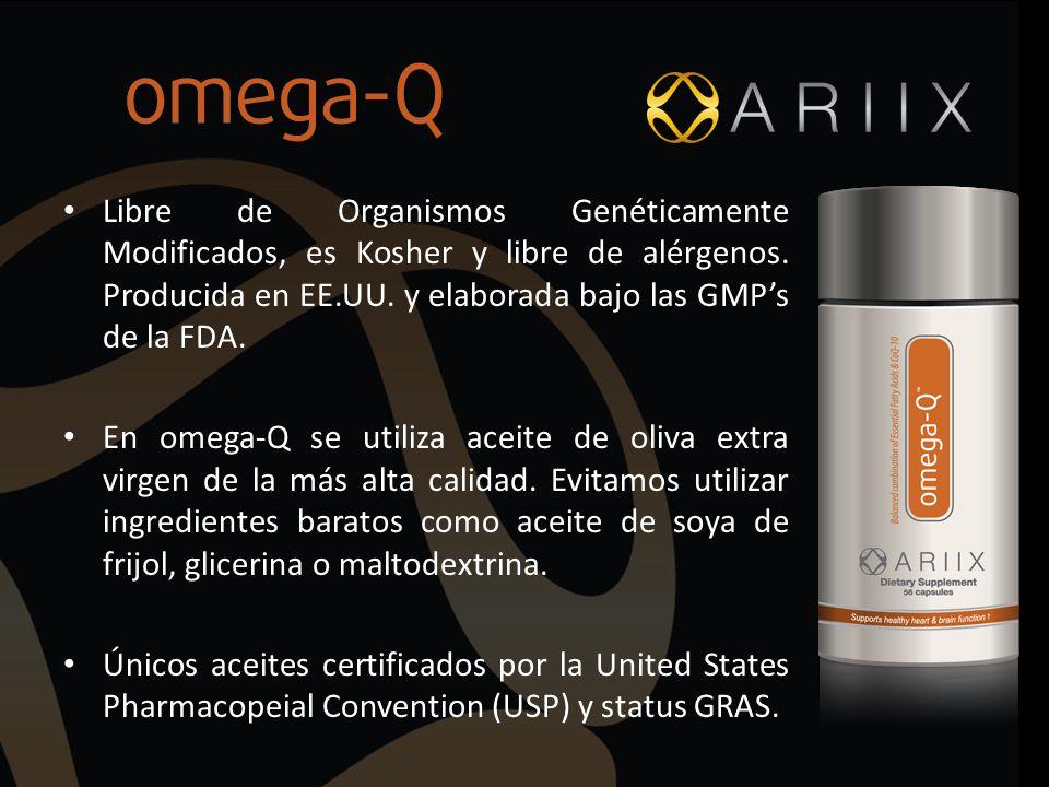 Libre de Organismos Genéticamente Modificados, es Kosher y libre de alérgenos. Producida en EE.UU. y elaborada bajo las GMP's de la FDA.