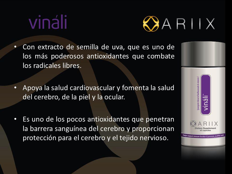 Con extracto de semilla de uva, que es uno de los más poderosos antioxidantes que combate los radicales libres.
