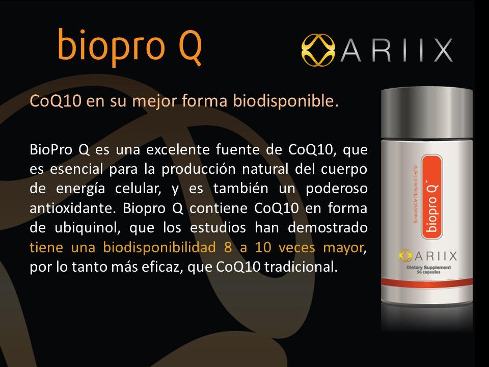 CoQ10 en su mejor forma biodisponible.