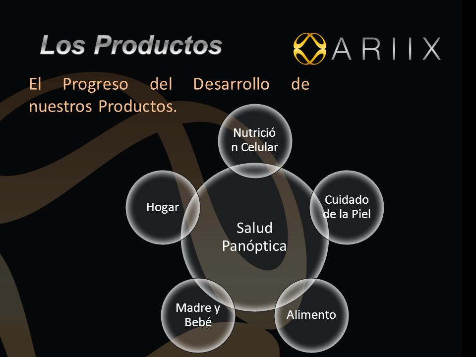 Los Productos El Progreso del Desarrollo de nuestros Productos.