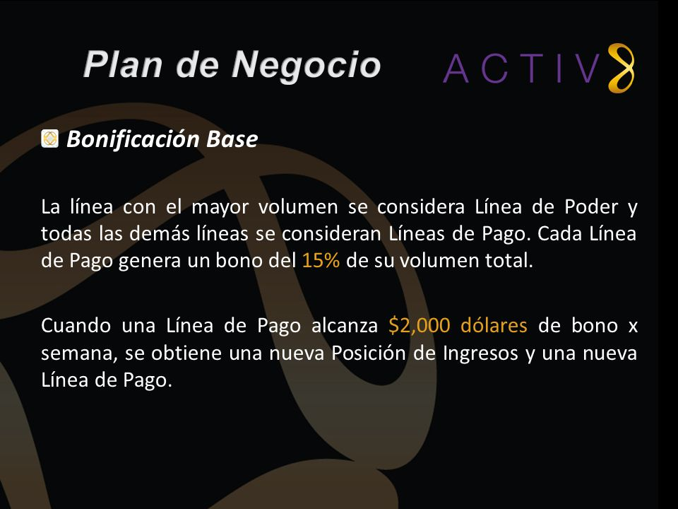 Plan de Negocio Bonificación Base