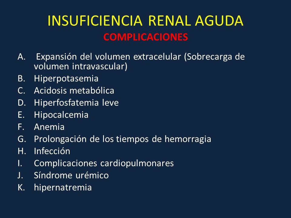 INSUFICIENCIA RENAL AGUDA COMPLICACIONES
