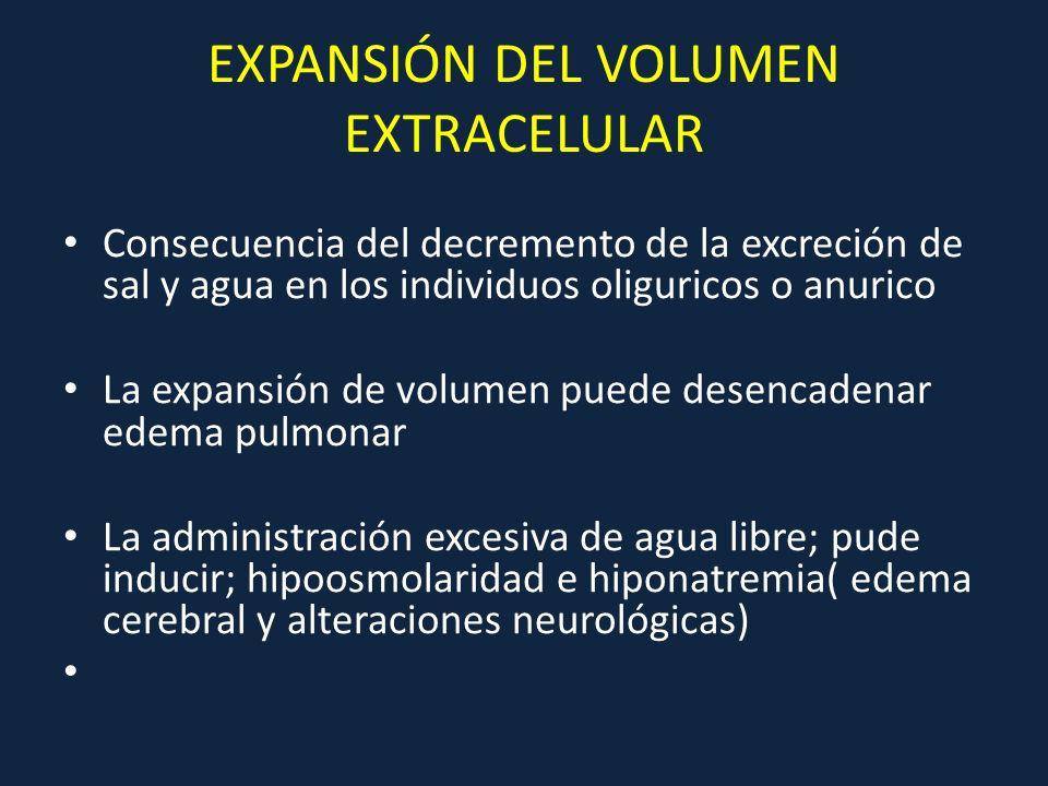 EXPANSIÓN DEL VOLUMEN EXTRACELULAR