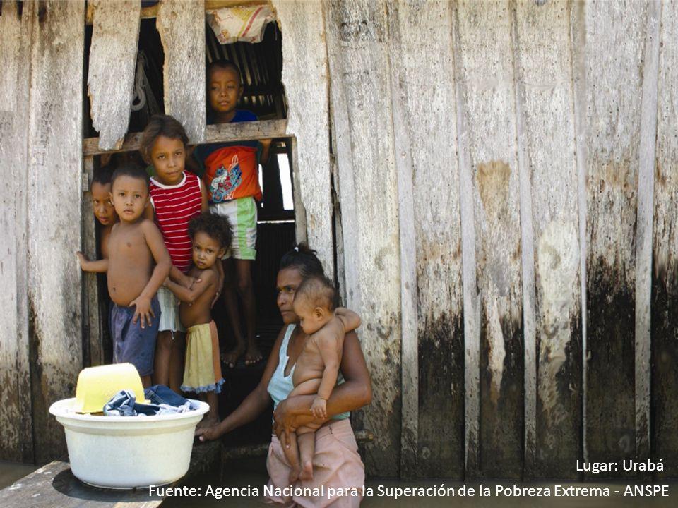 Lugar: Urabá Fuente: Agencia Nacional para la Superación de la Pobreza Extrema - ANSPE