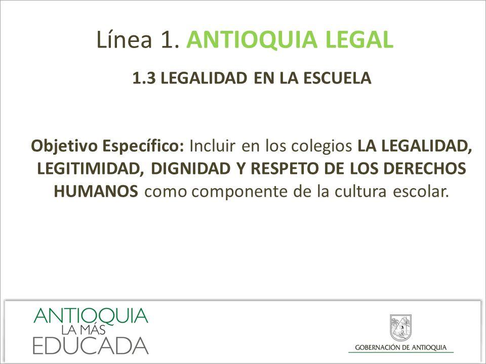 1.3 LEGALIDAD EN LA ESCUELA