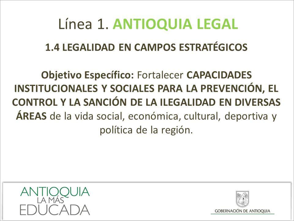 1.4 LEGALIDAD EN CAMPOS ESTRATÉGICOS