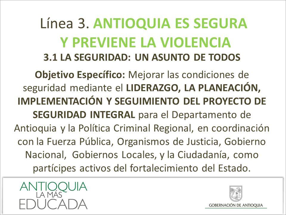 Y PREVIENE LA VIOLENCIA 3.1 LA SEGURIDAD: UN ASUNTO DE TODOS
