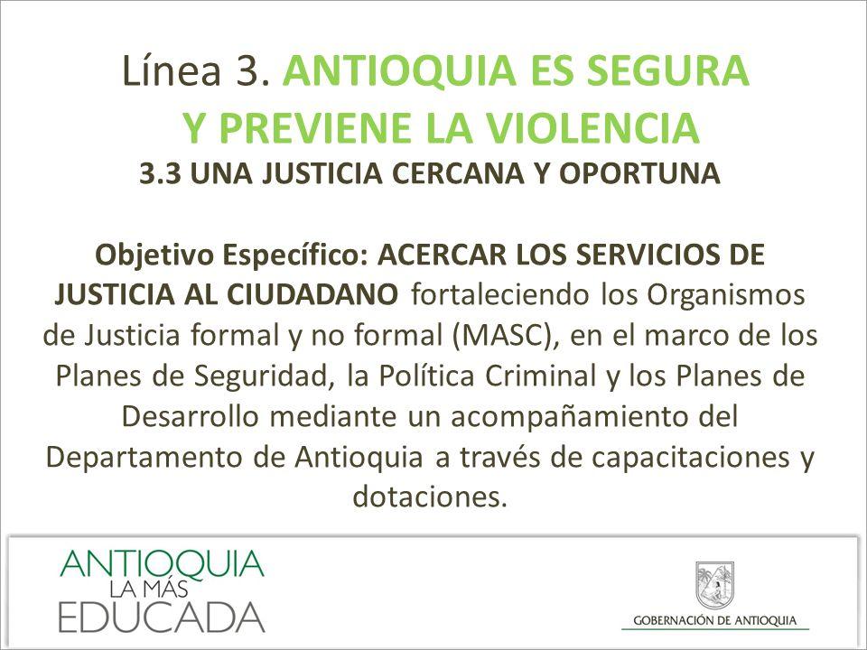 Y PREVIENE LA VIOLENCIA 3.3 UNA JUSTICIA CERCANA Y OPORTUNA