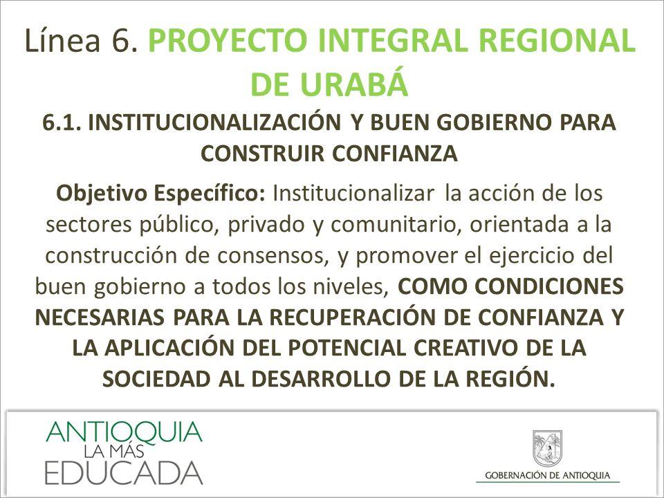 6.1. INSTITUCIONALIZACIÓN Y BUEN GOBIERNO PARA CONSTRUIR CONFIANZA