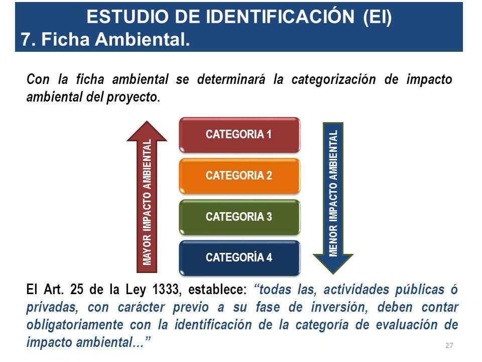 ESTUDIO DE IDENTIFICACIÓN (EI)