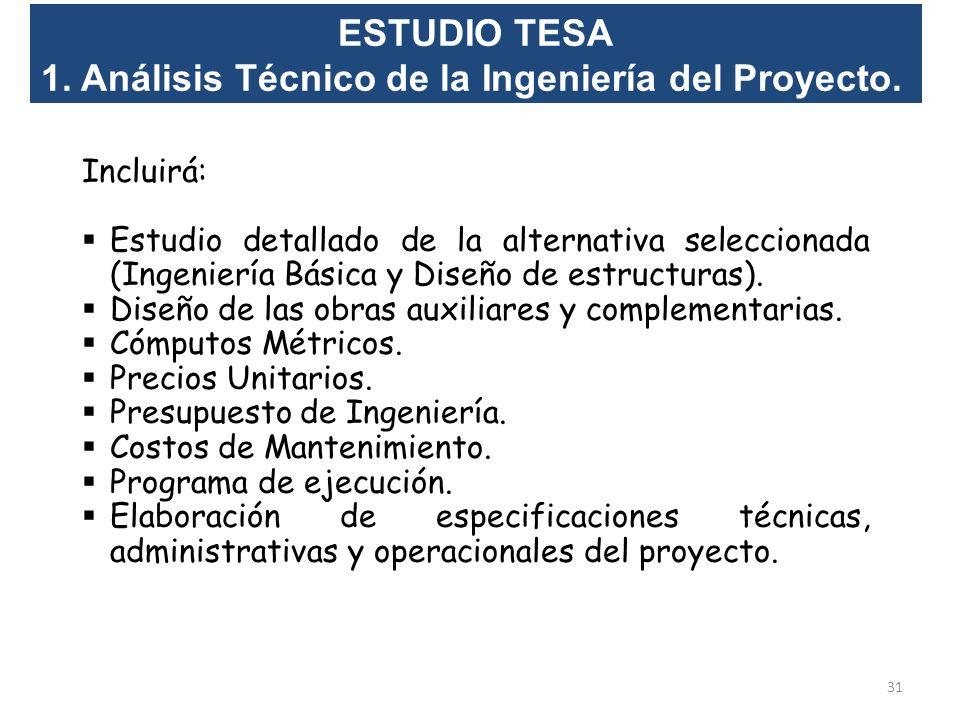 1. Análisis Técnico de la Ingeniería del Proyecto.