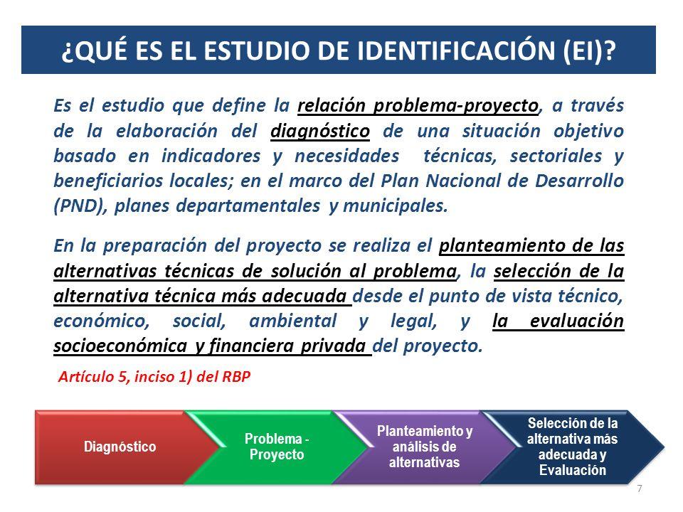 ¿QUÉ ES EL ESTUDIO DE IDENTIFICACIÓN (EI)