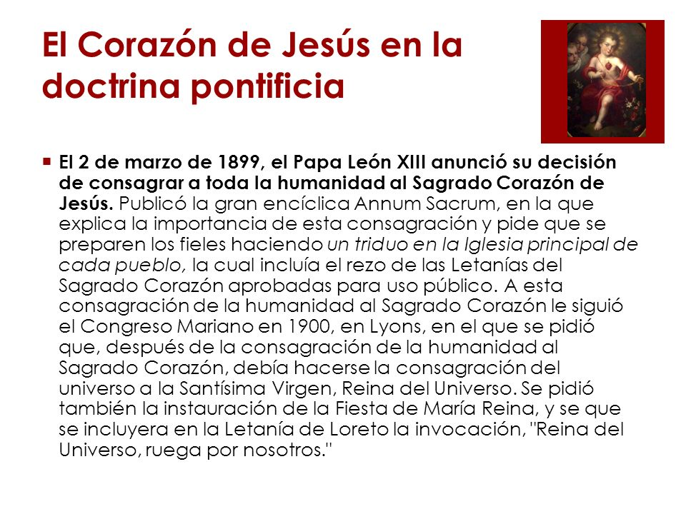 El Corazón de Jesús en la doctrina pontificia