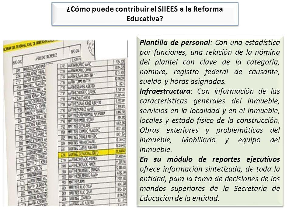 ¿Cómo puede contribuir el SIIEES a la Reforma Educativa