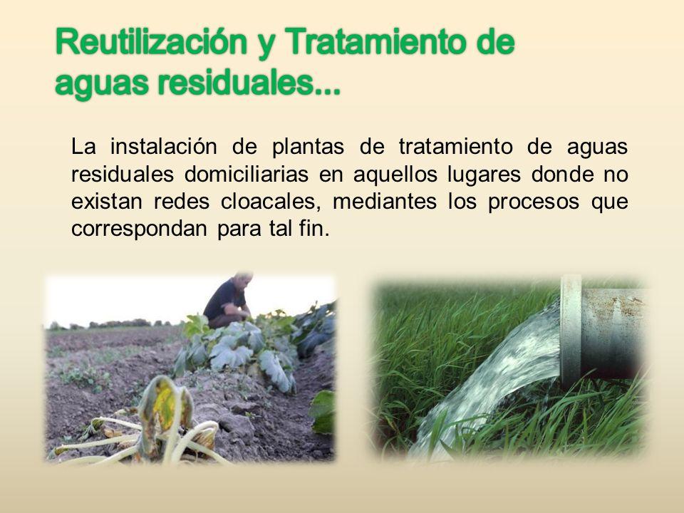 Reutilización y Tratamiento de aguas residuales...