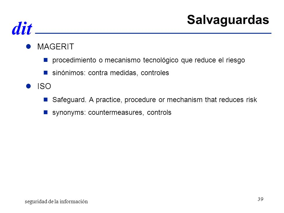 Salvaguardas MAGERIT ISO