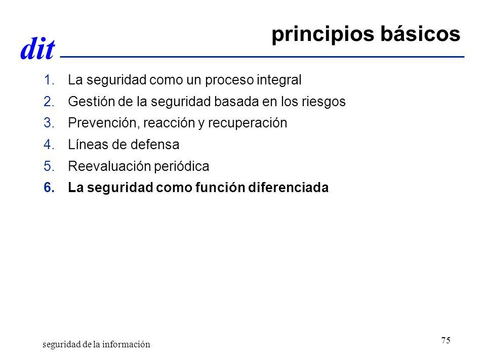 principios básicos La seguridad como un proceso integral