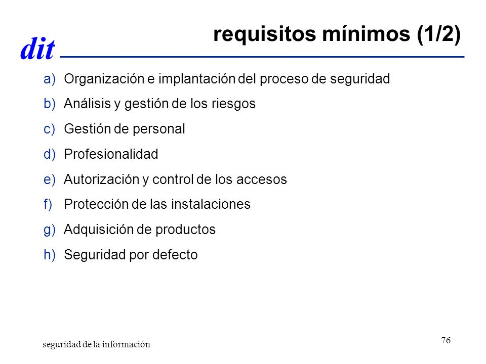 requisitos mínimos (1/2)