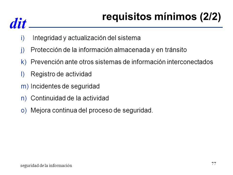 requisitos mínimos (2/2)