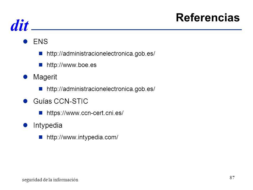 Referencias ENS Magerit Guías CCN-STIC Intypedia