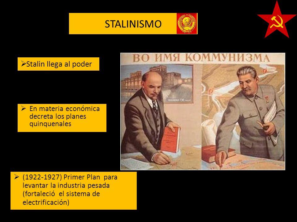 STALINISMO Stalin llega al poder