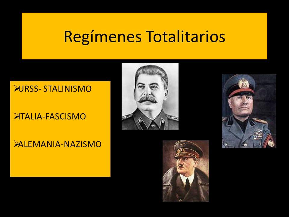Regímenes Totalitarios