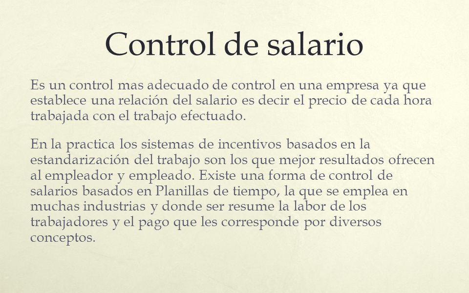 Control de salario