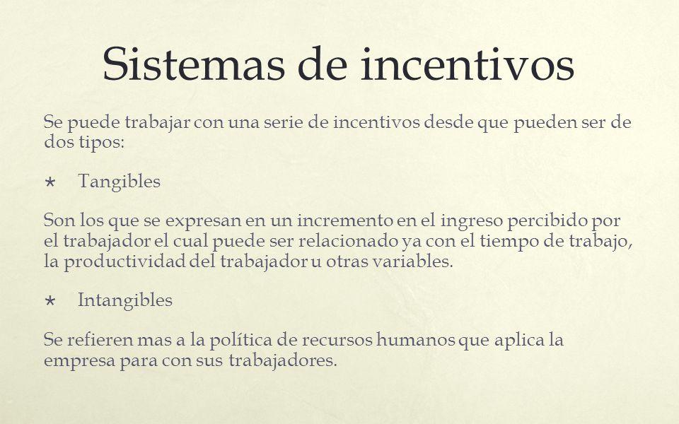 Sistemas de incentivos