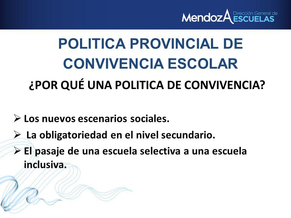 POLITICA PROVINCIAL DE CONVIVENCIA ESCOLAR