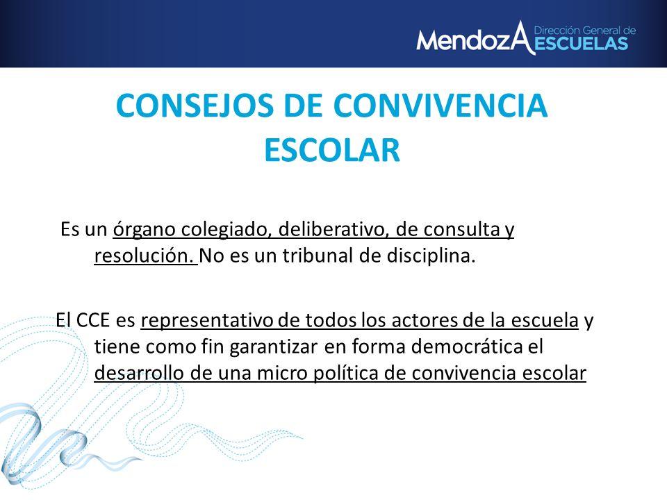 CONSEJOS DE CONVIVENCIA ESCOLAR
