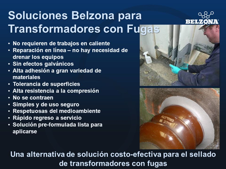 Soluciones Belzona para Transformadores con Fugas