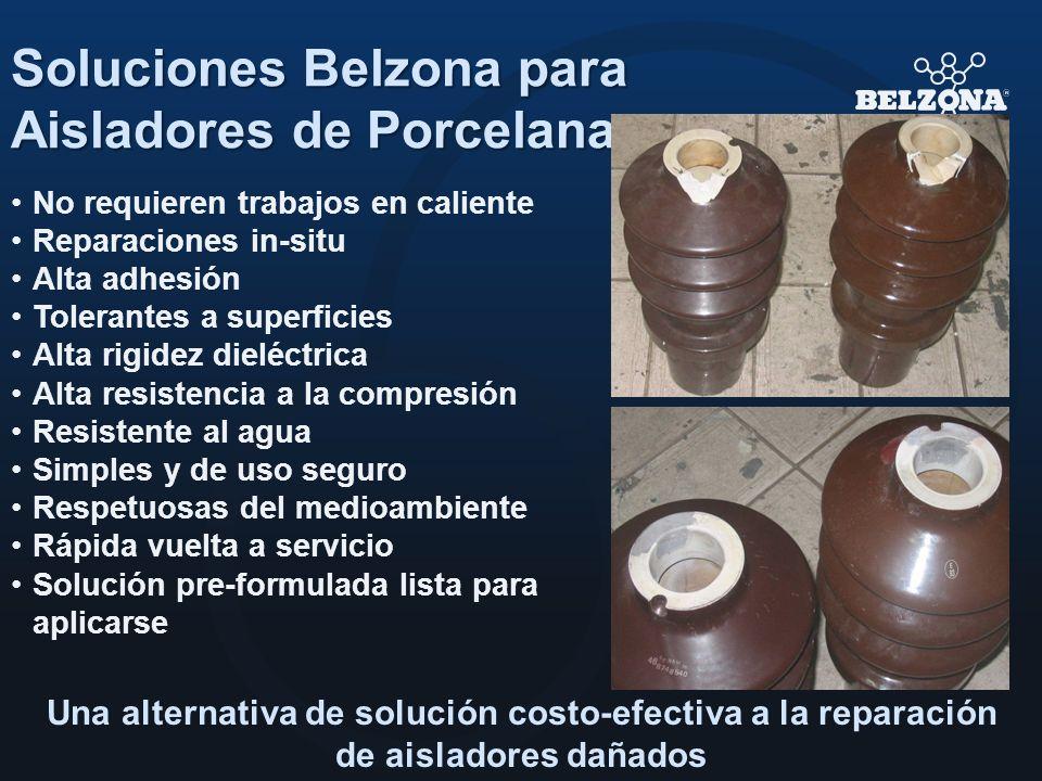 Soluciones Belzona para Aisladores de Porcelana