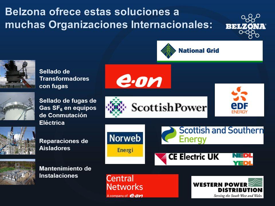 Belzona ofrece estas soluciones a muchas Organizaciones Internacionales: