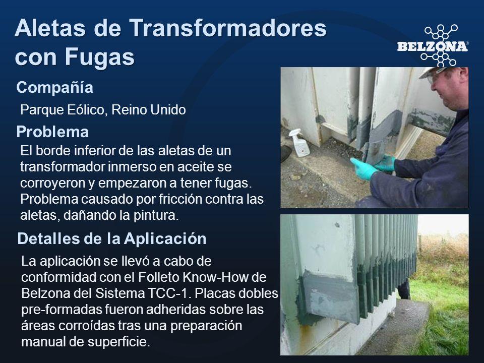 Aletas de Transformadores con Fugas
