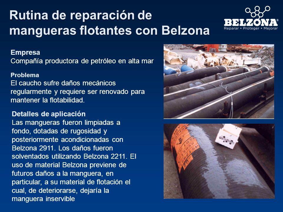 Rutina de reparación de mangueras flotantes con Belzona