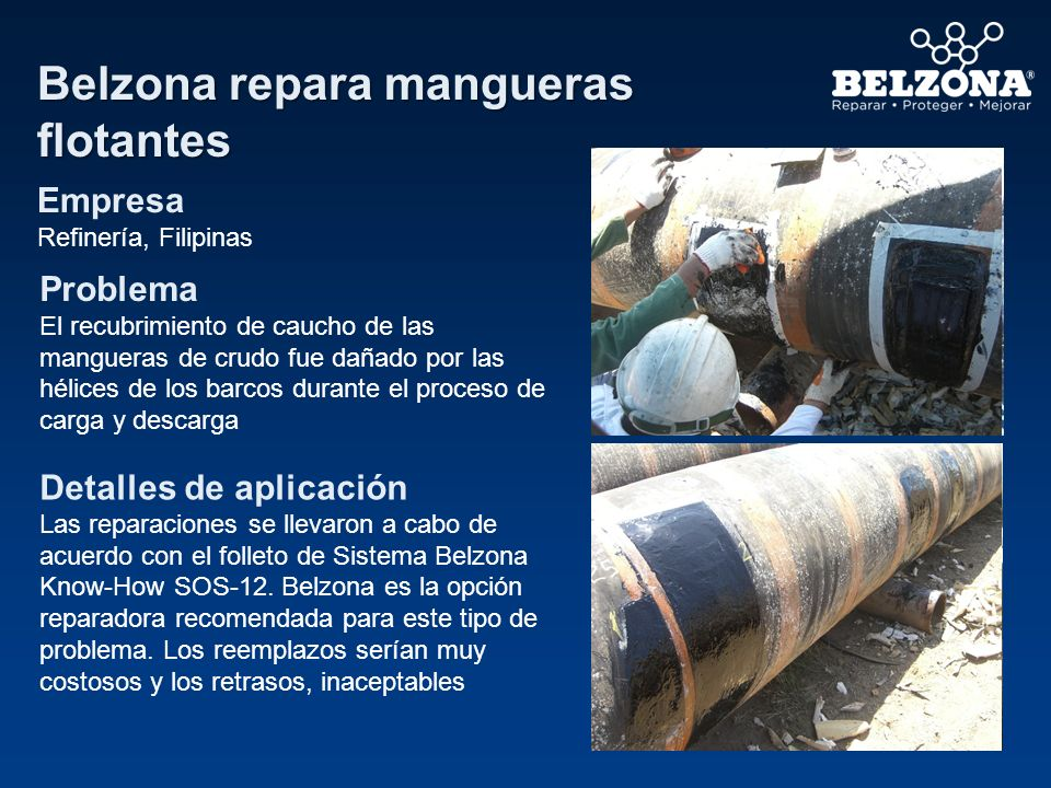 Belzona repara mangueras flotantes