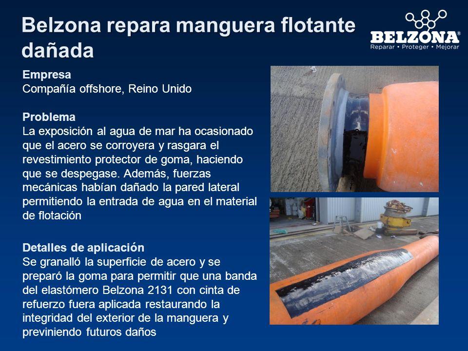 Belzona repara manguera flotante dañada
