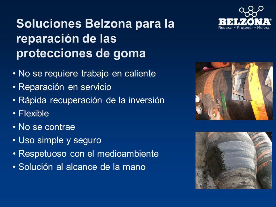 Soluciones Belzona para la reparación de las protecciones de goma