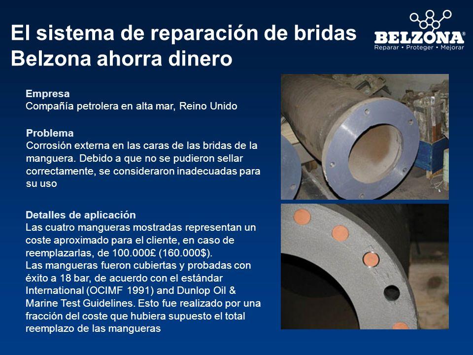 El sistema de reparación de bridas Belzona ahorra dinero