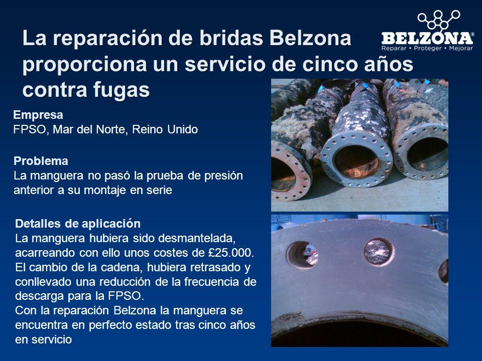 La reparación de bridas Belzona proporciona un servicio de cinco años contra fugas