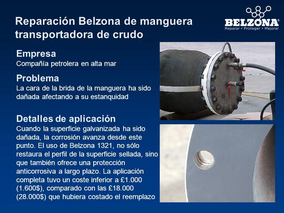 Reparación Belzona de manguera transportadora de crudo