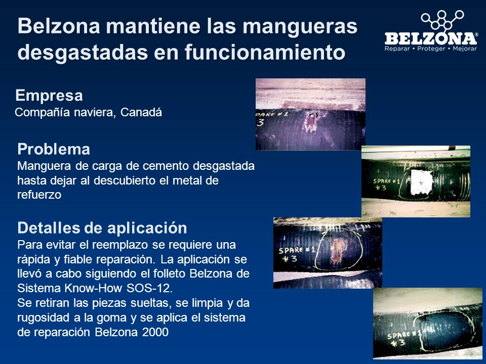 Belzona mantiene las mangueras desgastadas en funcionamiento