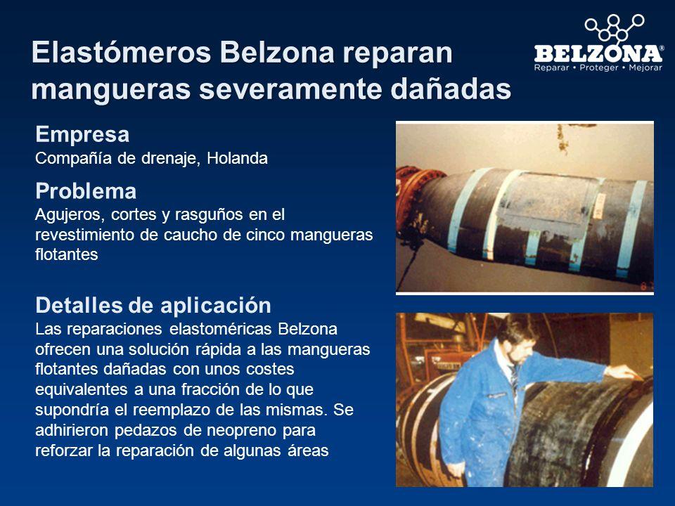 Elastómeros Belzona reparan mangueras severamente dañadas