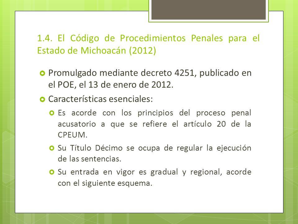 1.4. El Código de Procedimientos Penales para el Estado de Michoacán (2012)