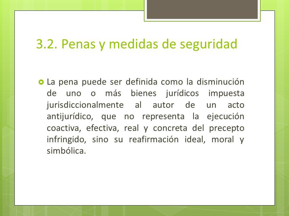 3.2. Penas y medidas de seguridad