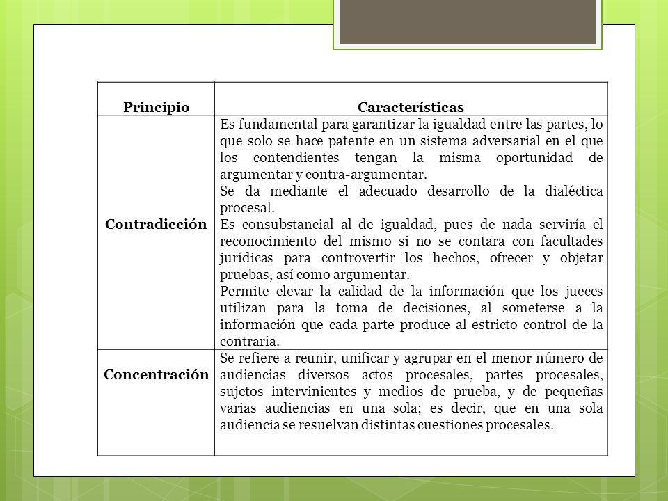 Principio Características. Contradicción.