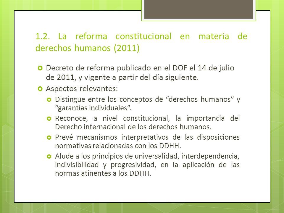 1.2. La reforma constitucional en materia de derechos humanos (2011)