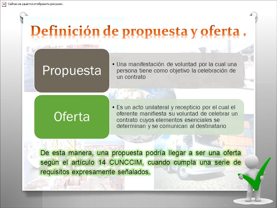Definición de propuesta y oferta .
