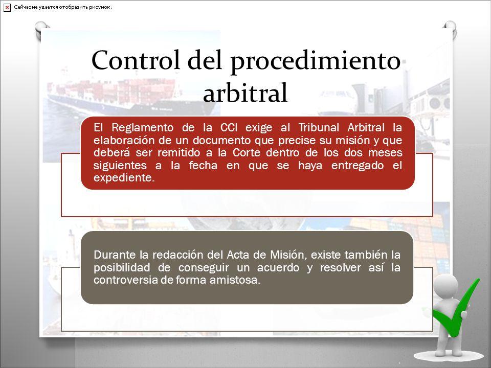 Control del procedimiento arbitral