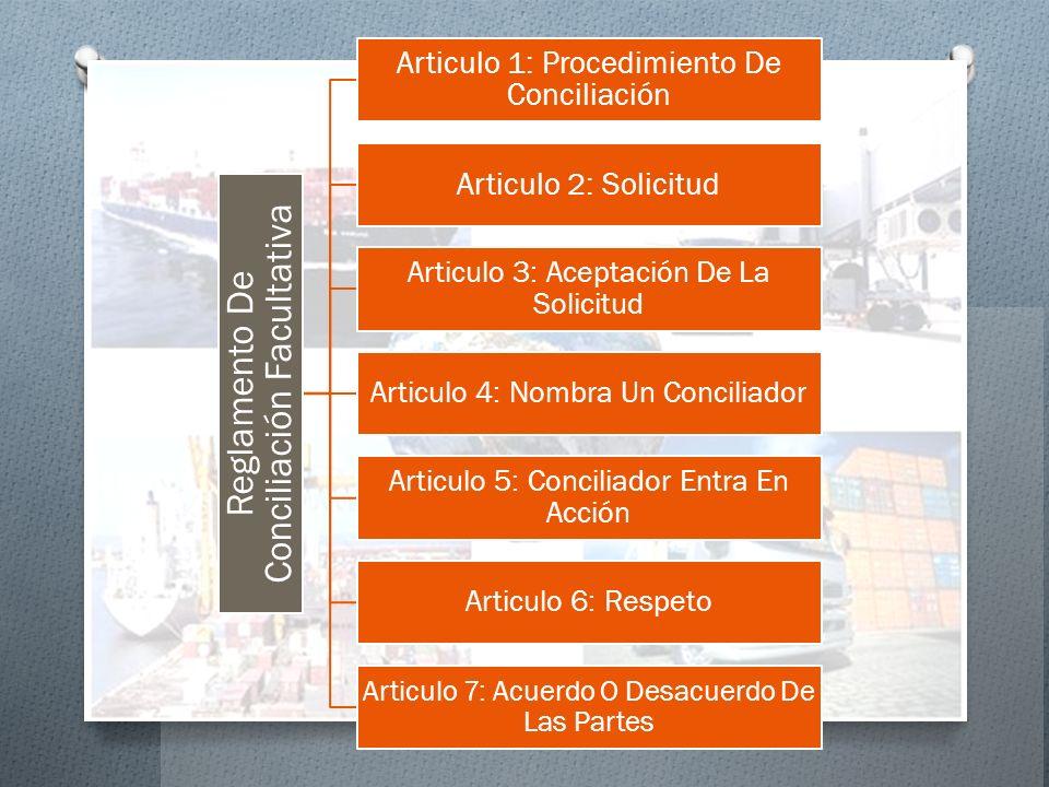 Reglamento De Conciliación Facultativa